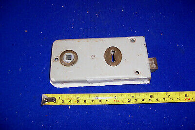 Vintage Legge metal rimlock door lock reversible bolt no keep or key lot 4
