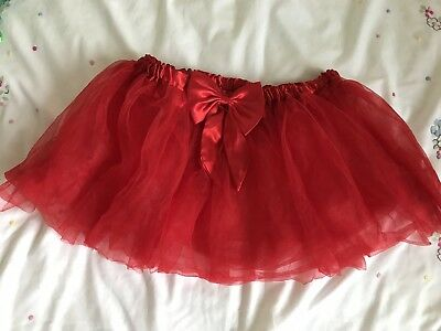 Claire's Accessories Red Tutu With Bow