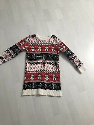 Girls Next Christmas Jumper Dress 5 Years