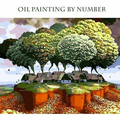 Modern DIY Oil Painting By Numbers Aerial Fruit Tree Hand Painted Canvas Picture