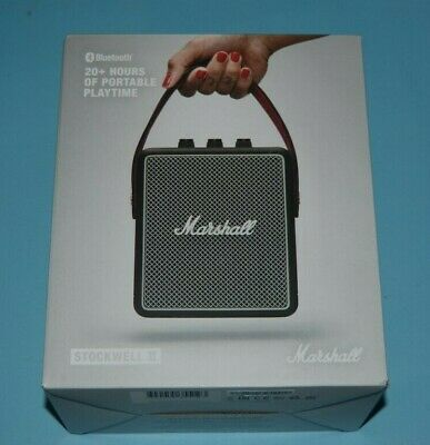 Marshall Stockwell II Portable Bluetooth Speaker Black FREE SHIP NEW SALE!!! WOW