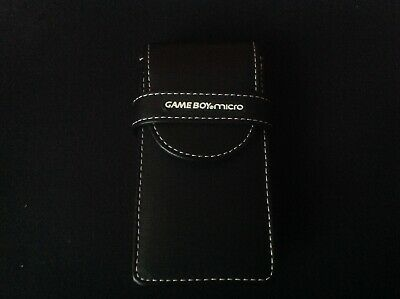 Game Boy Micro Sleeve Black Leather Case Holder