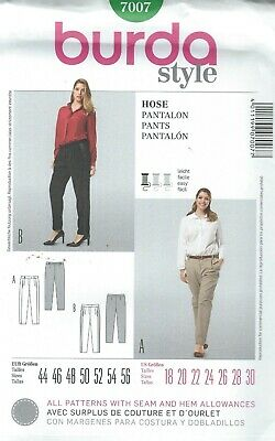 burda 7244 Misses/'//Women/'s Pants 18 to 34   Sewing Pattern