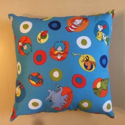 Dr. Suess Cat In The Hat Green Eggs & Ham Books Tv Complete 15 X 15 Throw Pillow