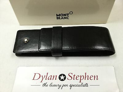 montblanc Meisterstuck range black leather two pen pouch