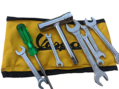 ukscooters VESPA HANDY TOOL KIT WITH YELLOW STRONG WOVEN POUCH NEW