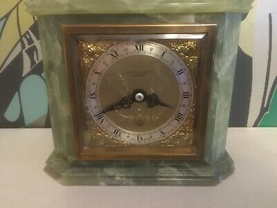 Elliot 8 Day Green Onyx Mantle Clock