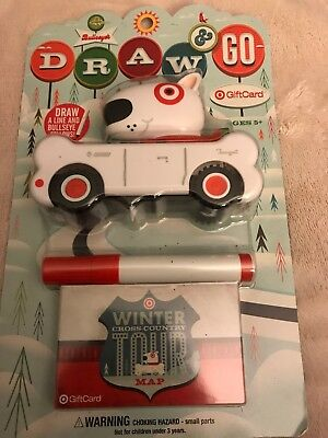 Target Gift Card New In Package Bullseye Draw & Go Toy