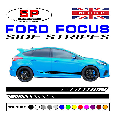 Ford Focus Side Stripes Decals Racing Sport Graphics RS ST