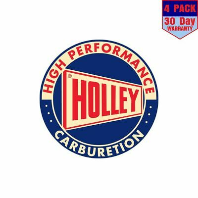 Holley Round 4 Stickers 4X4 Inch Sticker Decal