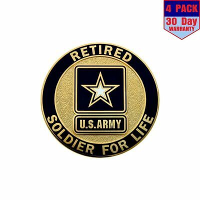 U.S. Army Retired 4 Stickers 4X4 Inch Sticker Decal