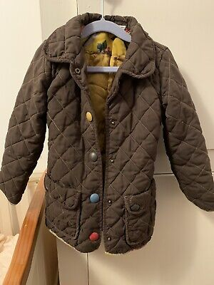 Girls Joules Quilted Coat Or Jacket In Brown, Age 5 Years