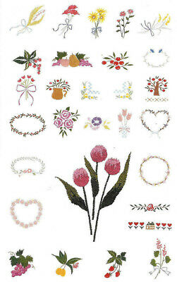 HEARTS &  FLOWERS #2 Embroidery Card - B. Deco Brother Baby Lock Simplicity .pes
