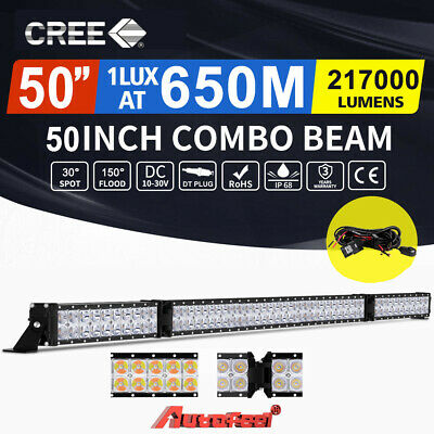 AutoFeel 50inch Cree LED Light Bar Spot Flood Combo Driving Offroad 4x4 VS 52""