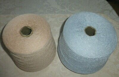 Machine knitting cones lot of 2 Acr-72%, Nyl 28%.