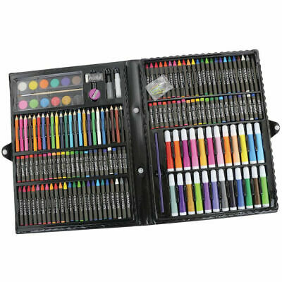 168pc Art Set with Crayons Pastels Markers Pencils Paint Felt Tips with Case