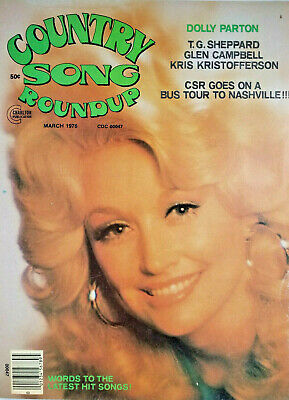 Country Soung Roundup Vtg Magazine March 1976 - Dolly Parton Cover - No Label VG
