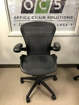 Herman Miller Aeron Chair Fully Adjustable Size B, Genuine Aeron Chairs