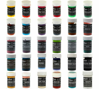 SUGARFLAIR CONCENTRATED SPECTRAL FOOD COLOURING PASTE GEL 50COLOURS 25g BULK BUY