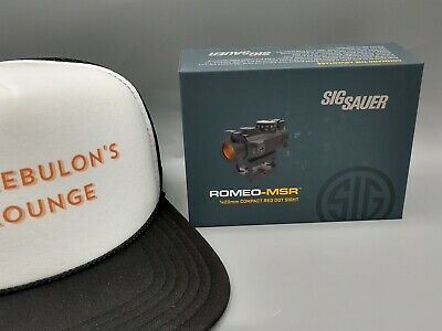 NEW Sig Sauer Romeo-MSR 1x20mm Compact Red Dot Sight Mount SOR72001 2 MOA