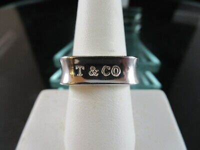 Tiffany & Co Square Cushion Band 1837 T&Co Ring Size 9 Sterling Silver 925 EUC