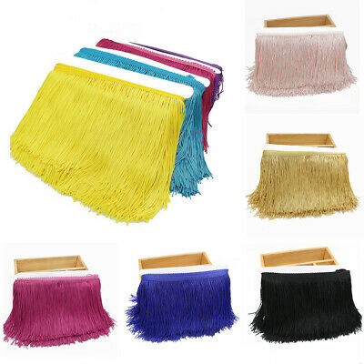 3 Yard Long Tassel Fringe Trim 15cm/6'' Fringing Drop Latin Costume Dress Sewing