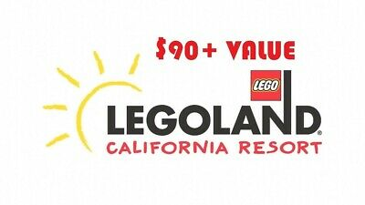 Legoland California One Day Ticket (Park Only) Good Through 12/31/20