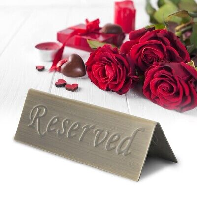 Double Side Reserved Booking Table Sign Stainless Steel Cafe Bistro Restaurant