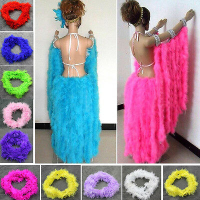 2M Feather Boa Strip Fluffy Craft Costume Dressup&Wedding Party Flower