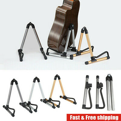 Folding Guitar Stand Floor Rack Electric Acoustic Bass Musical Instrument Holder