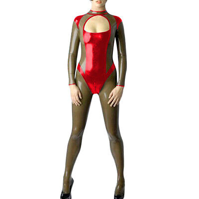 Latex Rubber Catsuit Gummi Sexy Tight Cool Bodysuit Cosplay Polished Ganzanzug