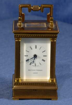 "Matthew Norman London 1760 Antique Brass Carriage Clock 3.5"" Tall (for Repair)"