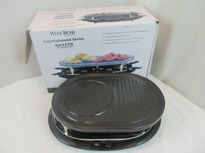West Bend Entertainment Series 6130 Racelette 8 Person Party Grill 1200-Watts