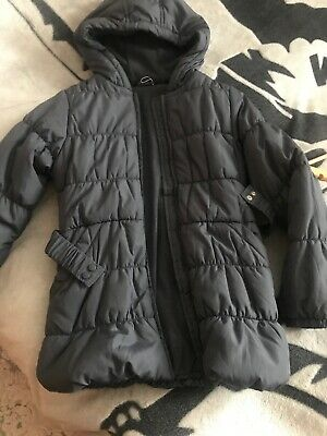 Girls George Black Winter Padded Coat Jacket Hood 9 -  10 Years