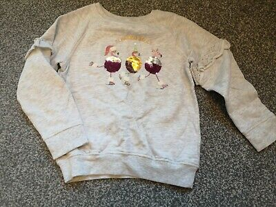 Next Girls Sequin Changing Christmas Jumper Age 8 Years