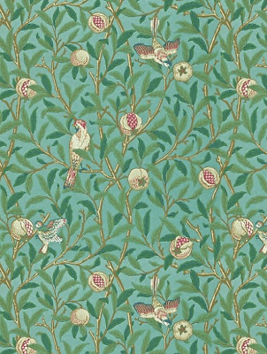 212538 WILLIAM MORRIS & CO BIRD & POMEGRANATE Wallpaper - NEW - 1 ROLL RRP £80