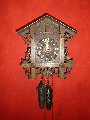 ANTIQUE CUCKOO CLOCK ?1910-1920 WORKING but cuckoo not attached