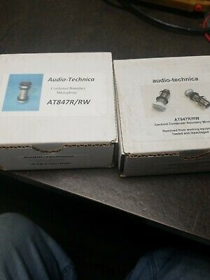 2 x ) Audio Technica AT847R Cardoid Condenser Boundary Microphone