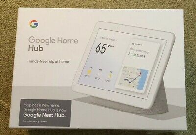 NEW Google Nest Hub with Built-In Google Assistant, Chalk (GA00516-US) Sealed