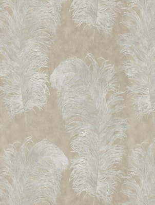 111236 HARLEQUIN PALMETTO OPERETTA PEBBLE Wallpaper - NEW - 6 ROLLS - RRP £400+