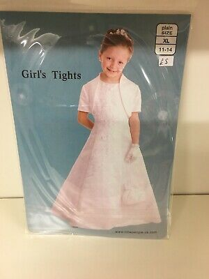 Girls White Tights Age 11-14 Holy Communion Flower Girl