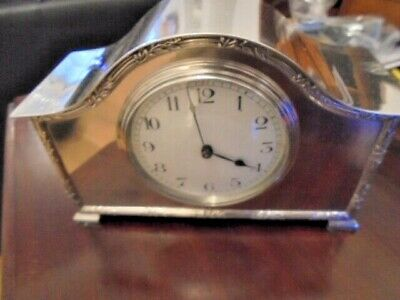 edwardian  silver plated  mantle clock