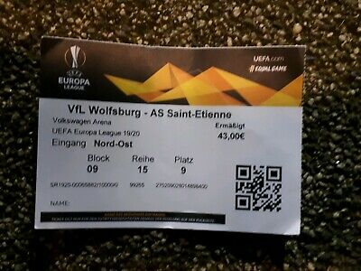 Sammler Ticket 19/20 VfL Wolfsburg  - AS St.  Etienne ( France  ) Europa League