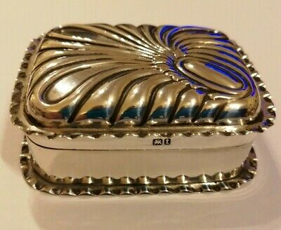 1893 Stokes & Ireland Birm' sterling silver import oblong snuff box - 34.8 gms
