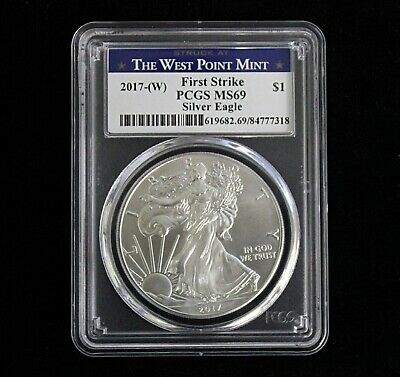 2017-(W) American Silver Eagle First Strike PCGS MS69 West Point Mint