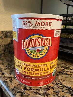 Earth's Best organic Infant formula 35oz (exp 9/28/2020)