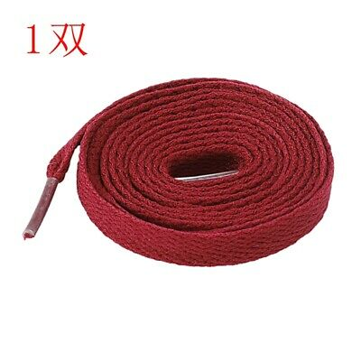 Flat Shoe Laces Bootlaces Trainers Skate Strong Shoelaces Rose Red Y6M6