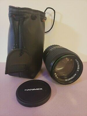 Hanimex Automatic F135mm Camera Lens 1:2.8 With Case