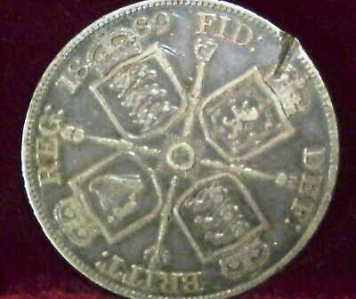 1889 Great Britain Double Florin KM# 763