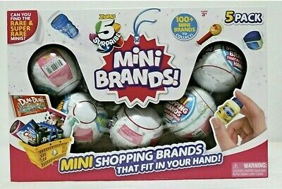 Limited ZURU 5 Surprise Mini Brands Shopping Ball 5 PACK Balls Christmas Gifts